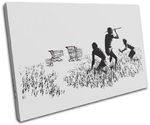Trolley Hunters Banksy Painting - 13-0946(00B)-SG32-LO